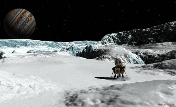 Digital Art - The Lander Ulysses On Europa by David Robinson