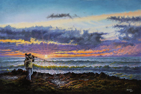 Painting - The Landscape Photographer by Chris Steele