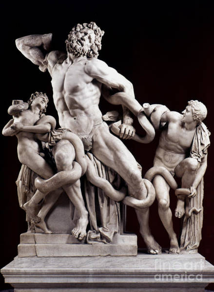 Wall Art - Painting - The Laocoon Group: by Granger