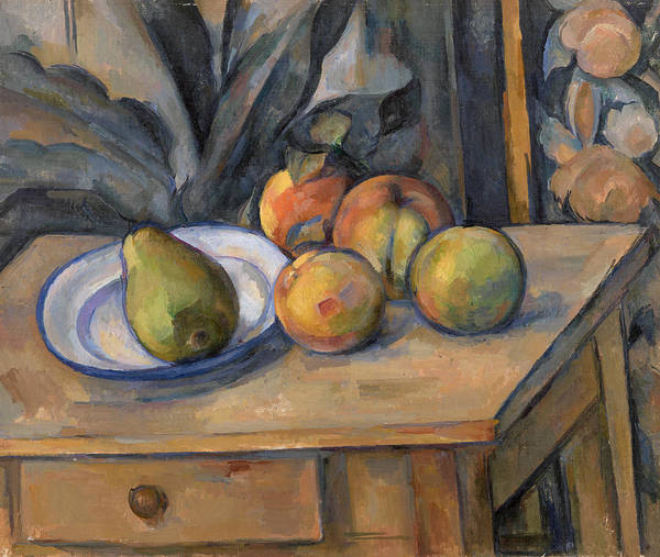 Apple Peel Wall Art - Painting - The Large Pear by Paul Cezanne