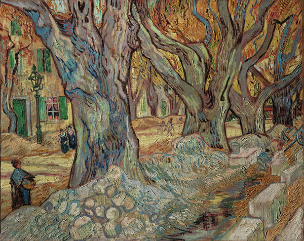 Almond Painting - The Large Plane Trees by Vincent van Gogh