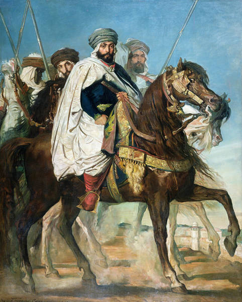Arab Horse Painting - The Last Caliph Of Constantine by Theodore Chasseriau