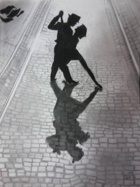 Wall Art - Drawing - The Last Dance by Samar Abdelmonem