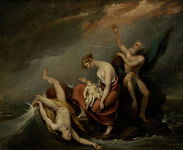 Evolution Painting - The Last Family Who Perished In The Deluge by John Trumbull