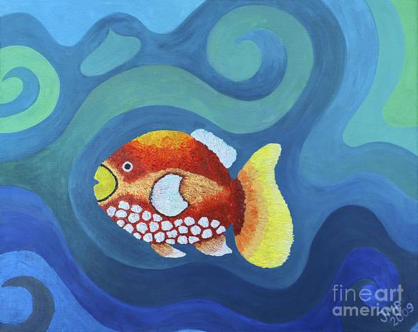 Wall Art - Painting - The Last Fish by Jutta Maria Pusl