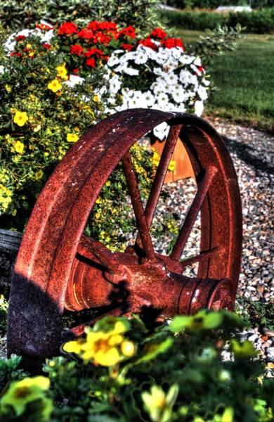 Photograph - The Last Wagon Wheel by David Matthews