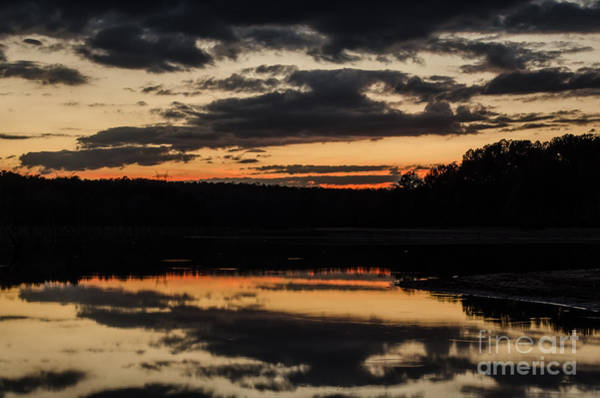 Lake Juliette Photograph - The Last Glow by Donna Brown