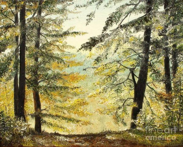 Acrilic Painting - The Last Hill by Sorin Apostolescu