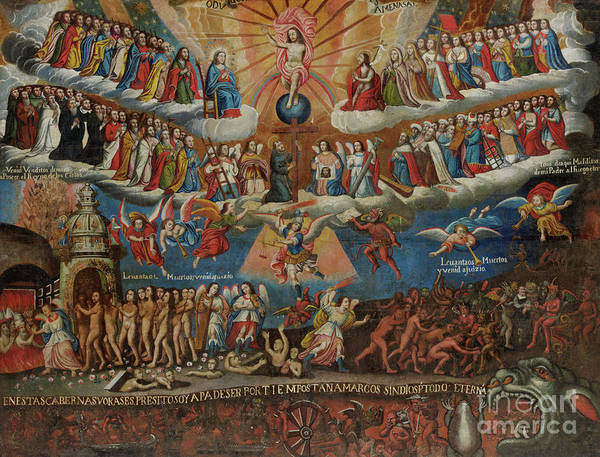 Wall Art - Painting - The Last Judgement, Cuzco School, Late 17th Century by Diego Quispe Tito