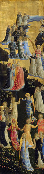 Wall Art - Painting - The Last Judgement, Left Wing by Fra Angelico