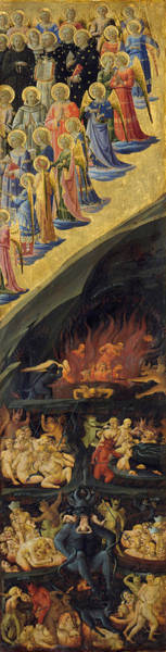 Wall Art - Painting - The Last Judgement, Right Wing by Fra Angelico
