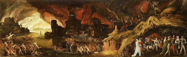 Wall Art - Painting - The Last Judgment And The Seven Deadly Sins by Jacob van Swanenburg