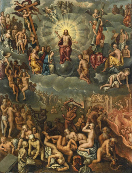 Painting - The Last Judgment by Follower of Crispin van den Broeck