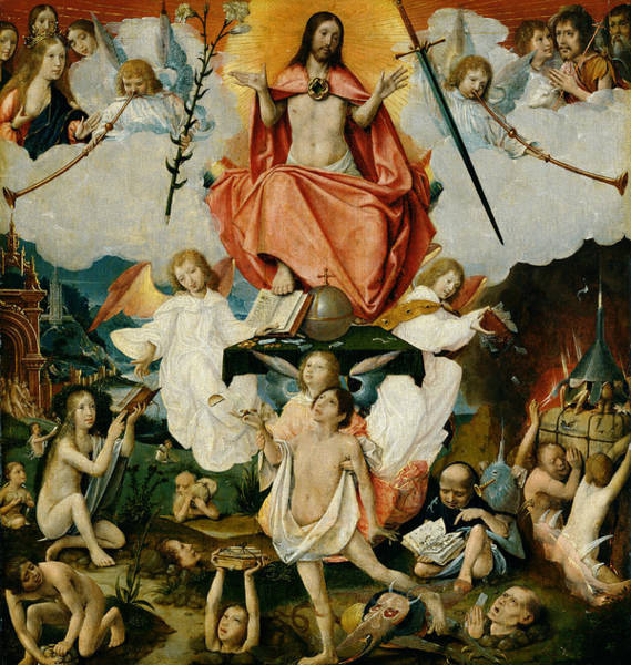 Wall Art - Painting - The Last Judgment by Jan Provost
