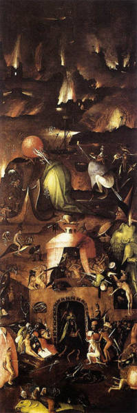 Wall Art - Painting - The Last Judgment, Right Wing, Hell by Hieronymus Bosch
