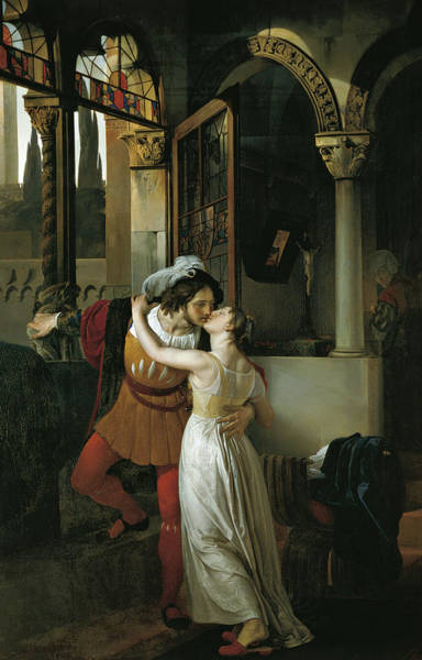 Wall Art - Painting - The Last Kiss Of Romeo And Juliet by Francesco Hayez