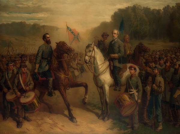 Stonewall Jackson Painting - The Last Meeting Between General Lee And Stonewall Jackson by Library Of Congress