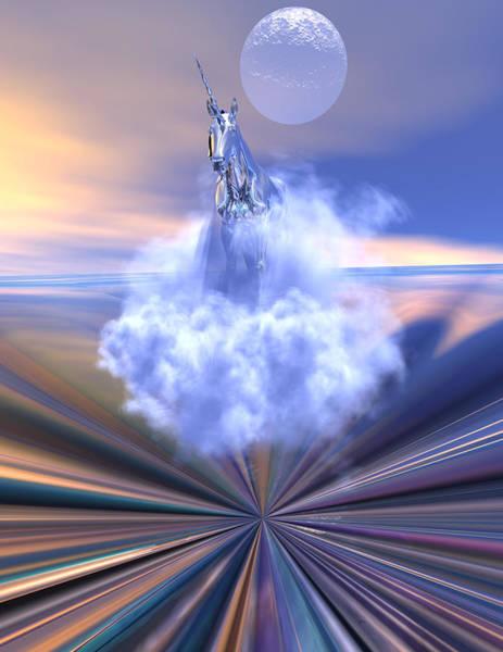 Scifi Digital Art - The Last Of The Unicorns by Claude McCoy
