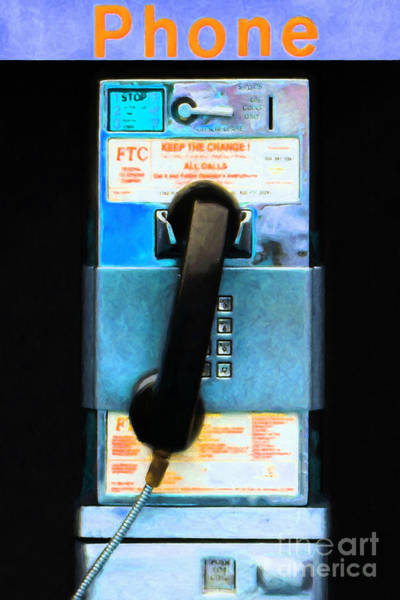 Photograph - The Last Pay Phone On Earth 20150901 Painterly P180 by Wingsdomain Art and Photography