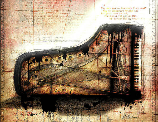 Grand Piano Digital Art - The Last Sonata by Gary Bodnar