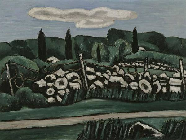 Wall Art - Painting - The Last Stone Walls  Dogtown By Marsden Hartley by Marsden Hartley