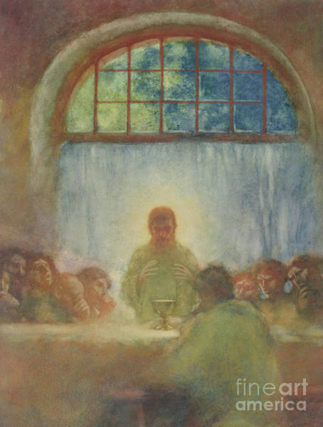 Wall Art - Painting - The Last Supper, 1897 by Gaston de La Touche
