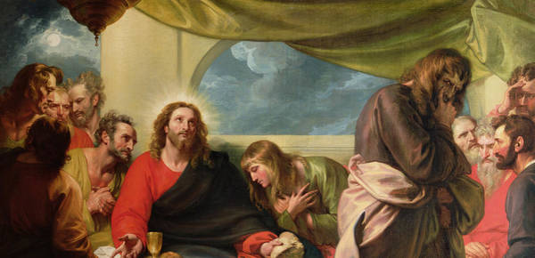 Last Painting - The Last Supper by Benjamin West