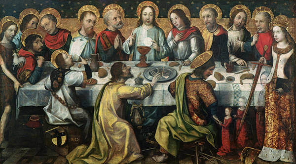 Sacrament Wall Art - Painting - The Last Supper by Godefroy