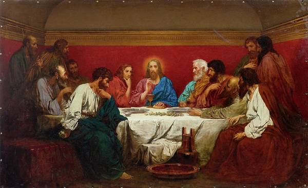 Painting - The Last Supper by Henryk Siemiradzki