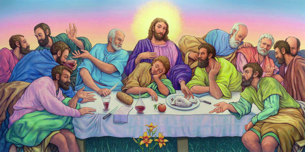 Painting - The Last Supper by James W Johnson