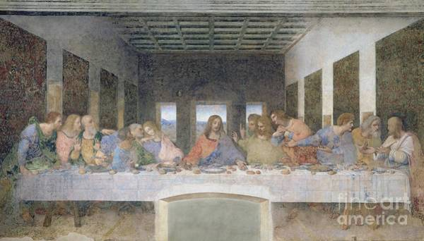 Post Wall Art - Painting - The Last Supper by Leonardo da Vinci