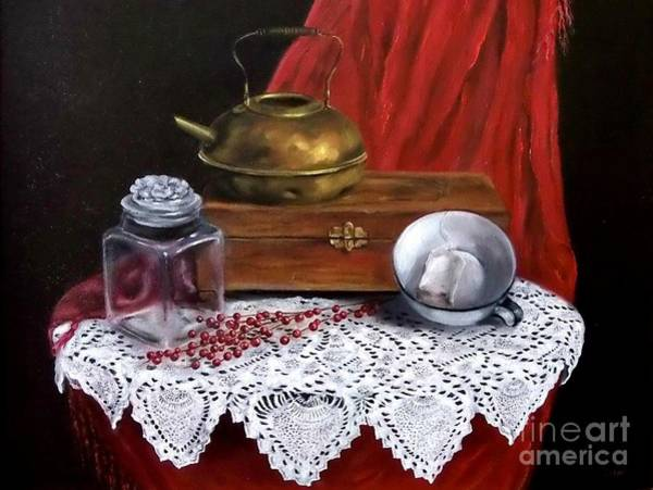 Wall Art - Painting - The Last Tea Bag by Patricia Lang