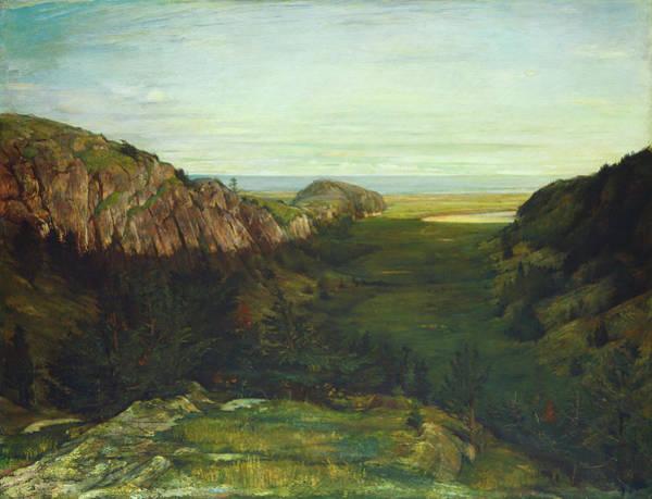 Painting - The Last Valley, Paradise Rocks by John La Farge