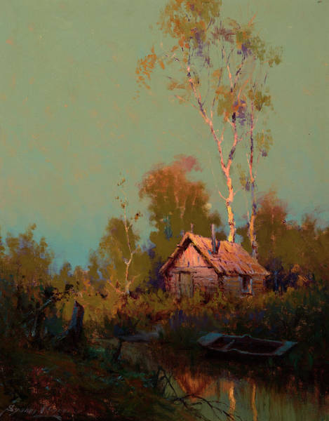 Wall Art - Painting - The Last Warm Glow by Sydney Mortimer Laurence