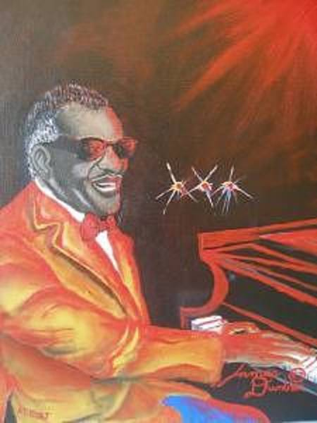 Wall Art - Painting - The Late Great Ray Charles by Dunbar's Modern Art