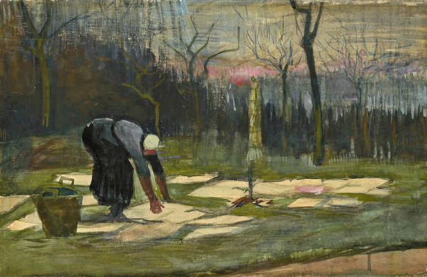Impressionistic Drawing - The Laundress by Vincent van Gogh