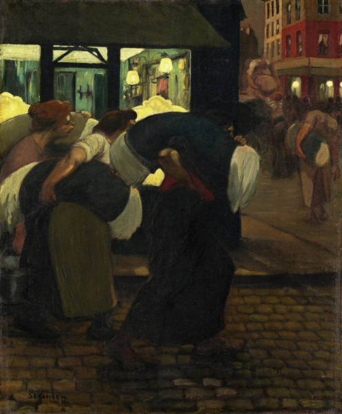 Painting - The Laundresses by Theophile Alexandre Steinlen