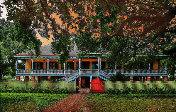 Southern Charm Digital Art - The Laura Plantation  by J Griff Griffin