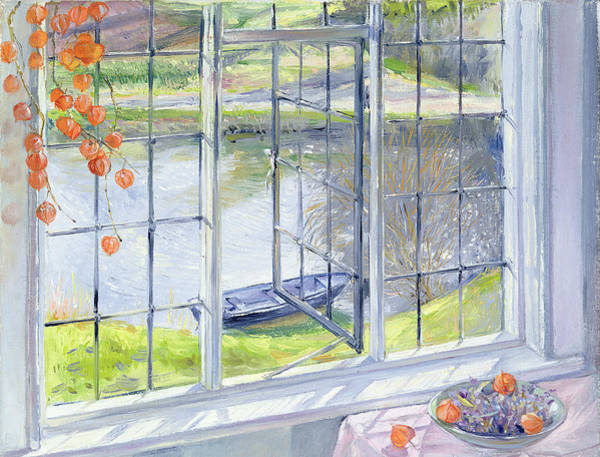 Chinese Lantern Wall Art - Painting - The Lavender Bowl by Timothy Easton