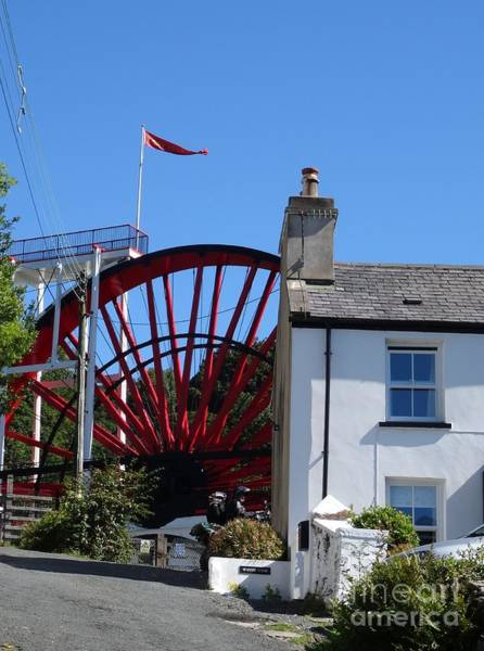 Photograph - The Laxey Wheel Behind A House by Karen Jane Jones