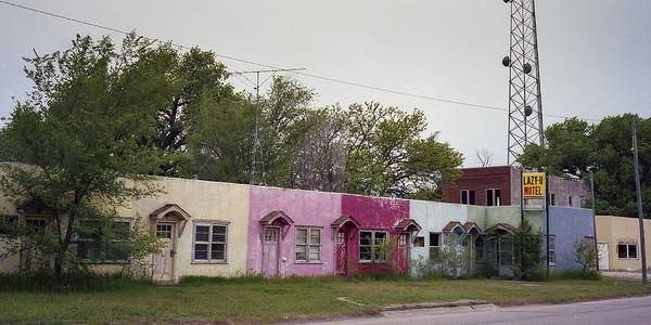 Photograph - The Lazy U Motel by HW Kateley