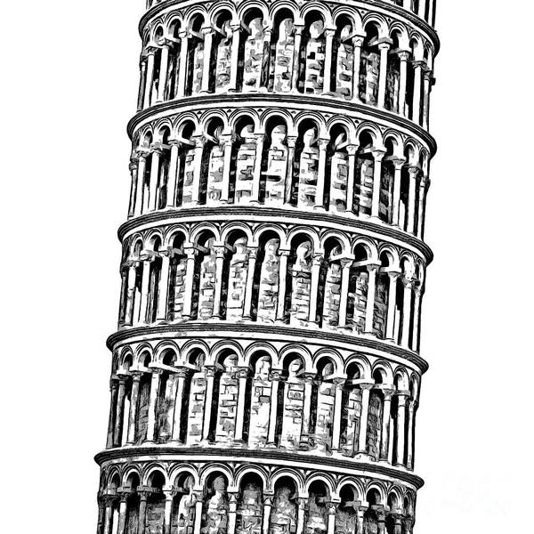 Wall Art - Digital Art - The Leaning Tower Of Pisa Graphic by Edward Fielding