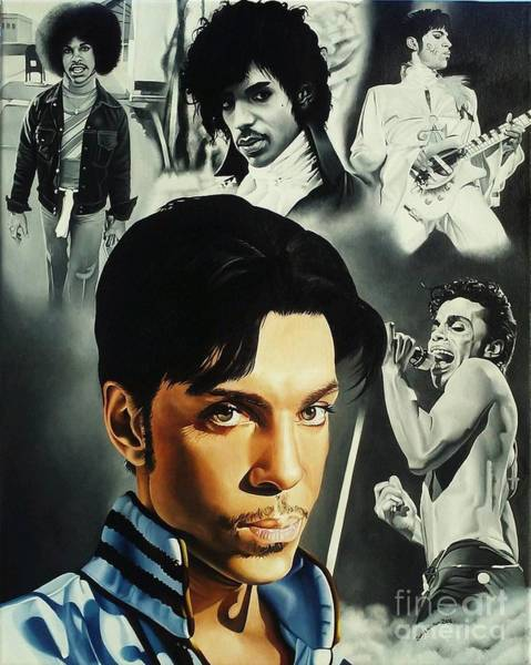 Prince Rogers Nelson Wall Art - Painting - The Legacy Of Prince by Sonya Walker