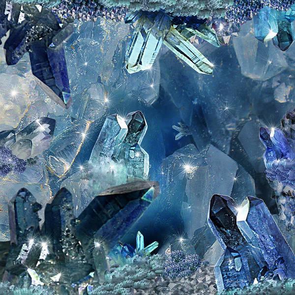 Digital Art - The Legend Of Sapphire Cavern by Artful Oasis