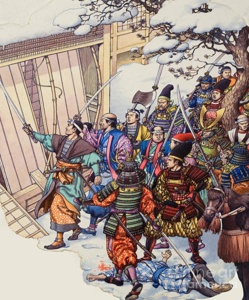 Wall Art - Painting - The Legend Of The Forty-seven Ronin by Pat Nicolle