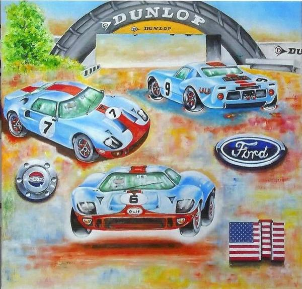 Painting - The Legendry Ford Gt 40 by Anne Dalton