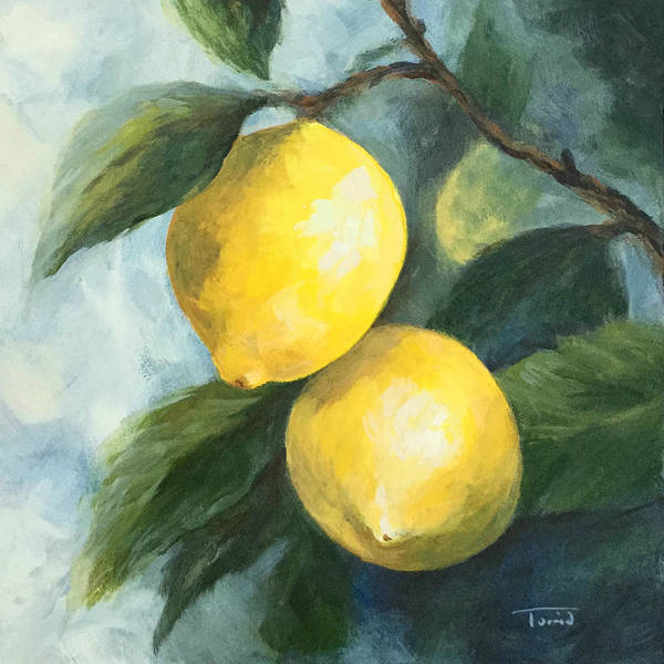 Wall Art - Painting - The Lemon Tree by Torrie Smiley