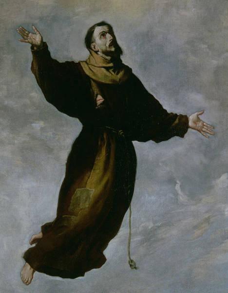 Ascension Painting - The Levitation Of Saint Francis by Francisco de Zurbaran