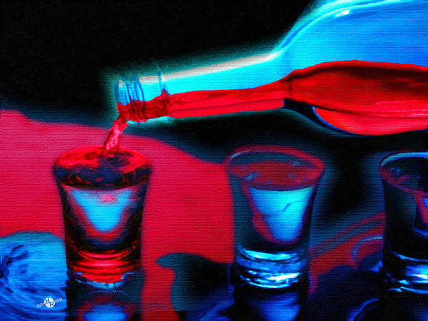 Painting - The Drink That Kills You Ode To Addiction by Tony Rubino