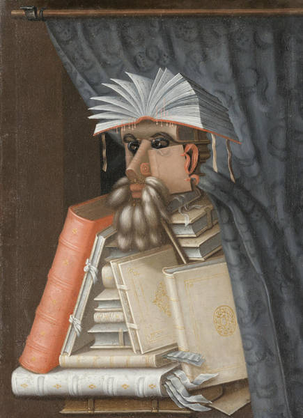 Painting - The Librarian  by Giuseppe Arcimboldo
